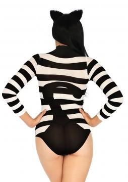 Striped Cat Bodysuit - One Size LA-89204