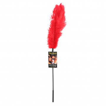 Sportsheets Ostrich Feather Tickler- Red SS700-03